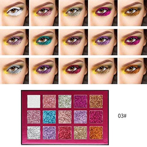 Fard à paupières,LHWY Luxe Plaque d'ombre à paupières Cosmétiques Matte Fard À Paupières Crème Maquillage Palette Shimmer Set 15 Couleurs Fard à Paupières (C)