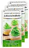 Brauns Heitmann Lebensmittelfarbe in Grün 2112 , 3er Pack - Farbpulver frei von AZO-Farbstoffen -Lebensmittelfarbpulver zum Verzieren von Backwaren, Füllungen, Cremes, Desserts - geschmacksneutraler Naturfarbstoff