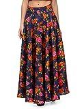 Xoxo Blue Floral Midi Skirt