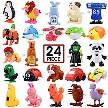Aufzieh-Spielzeug, 24 Stück, sortiert, Mini-Spielzeug für Kinder-Partys, Gastgeschenke, Geburtstagsbeutel, Vorschul-Spielzeug für Jungen Mädchen Kinder
