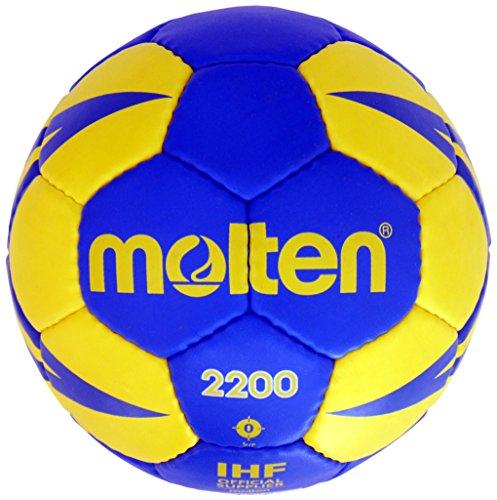 Molten HX2200 - Balón de Balonmano, Benjamín-niños, Amarillo y Azul, Talla 0