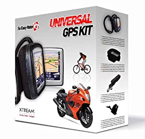 Xtream Wearther Kit motard pour GPS - Housse So easy rider V3 + Oreillettes Air Tube