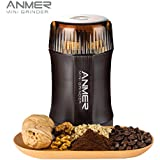 ANMER Modelo CG-8120 - Molinillo Eléctrico de Café, Frutos Secos y Especias, – Súper Potente 200 vatios, Muele en 20 segundos, Cuchillas de Acero Inoxidable