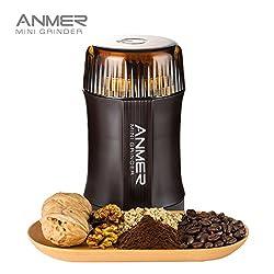 ANMER CG 8120 elektrische kaffeemühle zum mahlen von Kaffee, Nüsse und Gewürze - Kraftvolle 200 Watt für 20 Sekunden zum mahlen, Messer aus hochwertigem rostfreiem Stahl