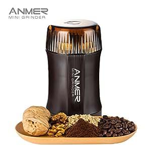 ANMER CG-8120 Moulin à café électrique pour les Grains, Noix,Poivre, épices, semences de café et autres, 200 watts et lames en acier inoxydable