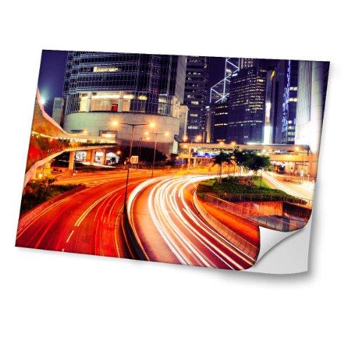 ciudades-10038-ciudad-de-noche-diseno-mejor-pegatina-de-vinilo-protector-con-efecto-cuero-extraible-