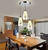 BAJIAN Badezimmer LightingRestaurant Leuchten, Kronleuchter Ideen, LED-Persönlichkeit Bar, Kronleuchter, Moderne Schlichtheit, Dreiköpfigen Disk