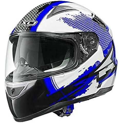 AXO Edge Road Casco, Blu/Bianco/Nero, M - Casco Blu