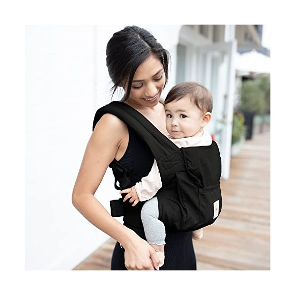 """Ergobaby Baby Carrier for Toddler Pure Black, Original 3-Position Child Carrier 5.5 to 20kg with Lumbar Support, Front Backpack Ergobaby Ergonomic babycarrier - ergonomic for baby with wide deep seat for a spread-squat, natural """"m"""" seated position. Baby carrying system with 3carry positions:  front-inward, hip and back. from baby to toddler: 5.5*-20kg Maximum wearing comfort - lumbar support waist belt (adjustable from 66-140cm / 26-52in) that can be adjusted to the height of the carry position. 4"""