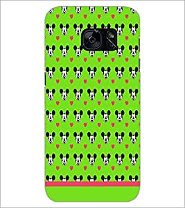 PrintDhaba Mickey Face Pattern D-1596 Back Case Cover for SAMSUNG GALAXY S7 (Multi-Coloured)