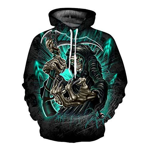 Unisex Winter 3D-Mode-Persönlichkeit Pullover Hoodie, lässiges leichtes Sweatshirt und Tasche S-XXL,772,S