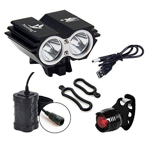 BYBO imperméable à l'eau 5000 Lumens 2x CREE XML U2 LED cycliste à vélo lampe à phare + 8,4V...