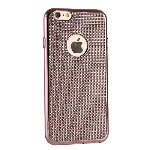 Wkae Case & Cover Lattice Housse de protection Texture Electroplating TPU pour iPhone 6 &6s ( Color : Pink ) Pink