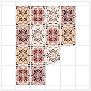 FoLIESEN Fliesenaufkleber 15x20 cm - Fliesen-Folie Bad - Klebefolie Küche - Patchwork No.1-16 Klebefliesen