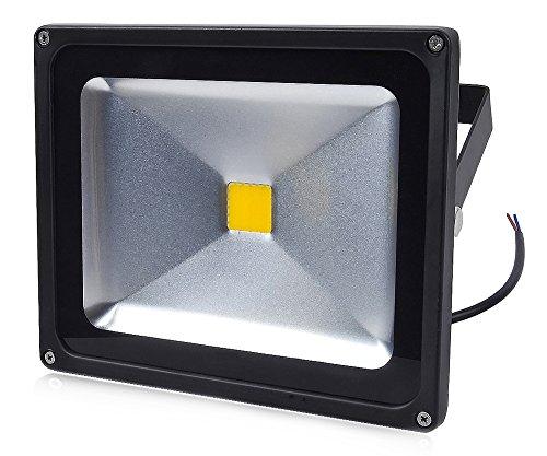 Auralum® Modern 10 Jahren Garantie 30w LED Fluter Außenstrahler 2700Lumen 230V IP65 6000K Weiß mit Schwarz Rahmen