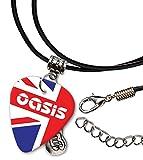 Oasis Union Jack Chitarra Plettro Cord Necklace Collana (F1)