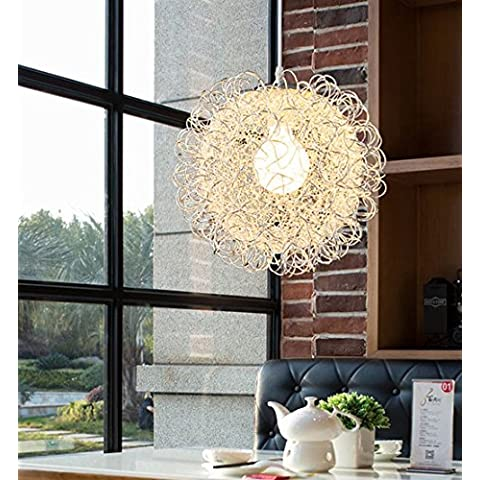Creativa moderna simple de la cabeza de una sola ronda de alambre de aluminio del restaurante del dormitorio de la lámpara
