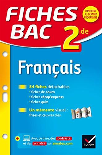 Fiches bac Français 2de: fiches de révision - Seconde