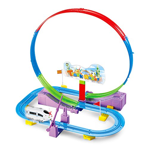 SONi 32 PCS Train Track Set 32 PCS Railroad Pieces Building Construction Toys Perfect Educational STEM DIY Assembly Toys for Preschool Toddler Boys and Girls
