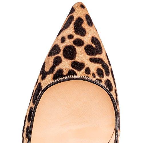 MERUMOTE , Chaussures à talon fin femme Léopard