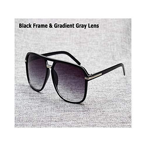 LAOBIAOZI Mode Für Männer Cool Square Style Gradient Sonnenbrille Fahren Vintage Brand Design Günstige Sonnenbrille (Lenses Color : Black Gradient Gray)