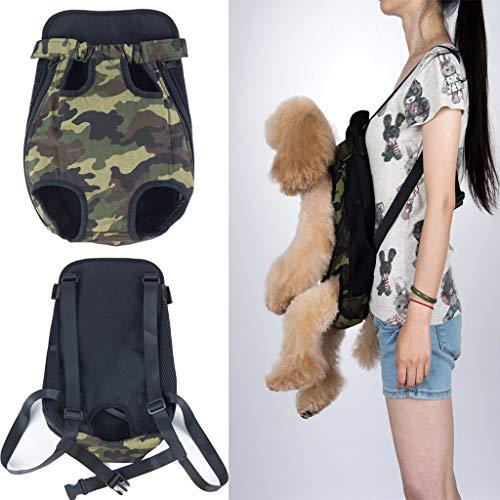 XIANNVA Haustier Hundeträger Rucksack Mesh Camouflage Atmungsaktiv tragbar Für kleine Hundeträger Outdoor Travel -