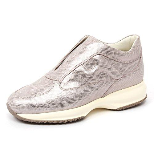 B4728 sneaker donna HOGAN INTERACTIVE scarpa tortora/panna shoe woman [38]