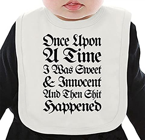 Once Upon A Time I Was Sweet And Innocent Slogan Bavoir Organique Medium