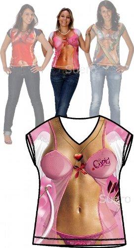 Sexy T-Shirt Engel / Amor Sie, extra dehnbar liegt hauteng an