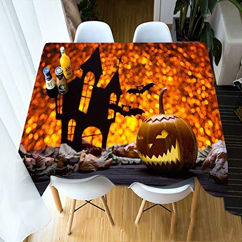 Smydp Happy Halloween Kürbis Puppe 60Cm * Lange 180Cm Hängetuch - Tischdecke - Tischdecke - Tee Maschine Tuch - Nachttuch Pad und andere Dekorationen