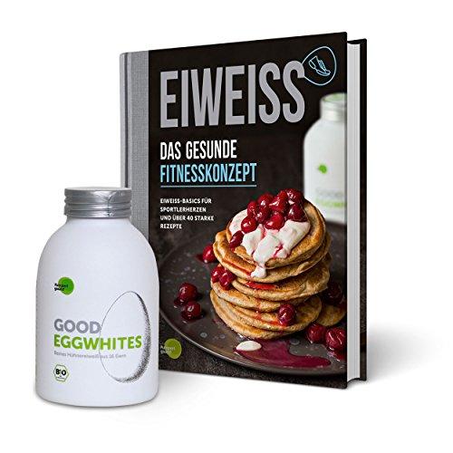 Eiweiß-Paket 'Gesunde Fitness': 1 Flasche Good Eggwhites (Bio-Eiklar) & das Fitness-Buch v. Pumperlgsund