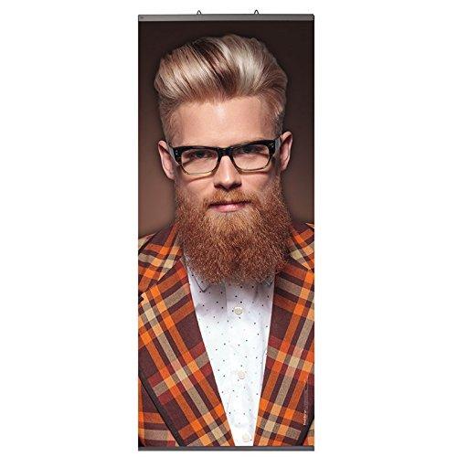 Trend Design Hang-on Banner L Mann mit Karojacke Hochwertiger Textilbanner