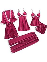 992619fbf TIFIY Sexy Conjuntos Cinco Vestido Mujer Erótico Lace Talla Grande Lenceria  Babydoll Interior Ropa de Dormir