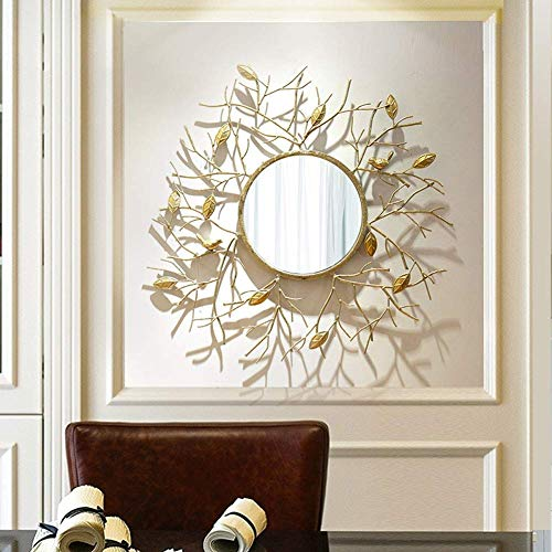 GWFVA Spiegel-? Europäisches Metalldekoratives amerikanisches Retro- Zweig-Rahmen-Wand-hängendes Portal-Kamin-Wand-Wand-Hängen - Poliert Eisen Kamin