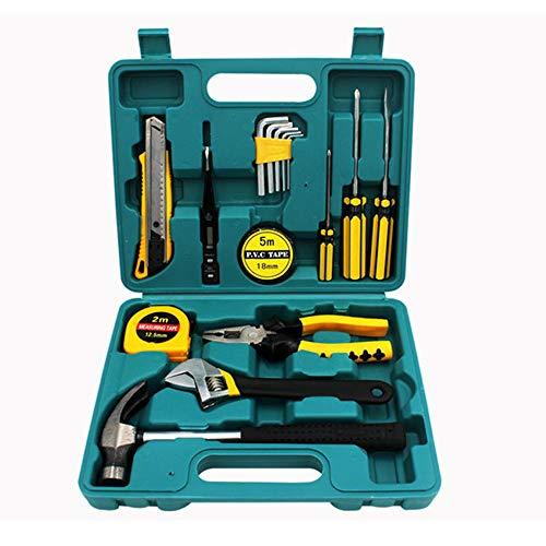 SINBROL 16PC Multi Haushalts-Werkzeugkoffer Werkzeugset Werkzeugsatz Elektrowerkzeuge DIY Reparatur Werkzeuge Kits Set Inkl. Hammer Schraubendreher Schraubenschlüssel-Set für Garage Auto Garten