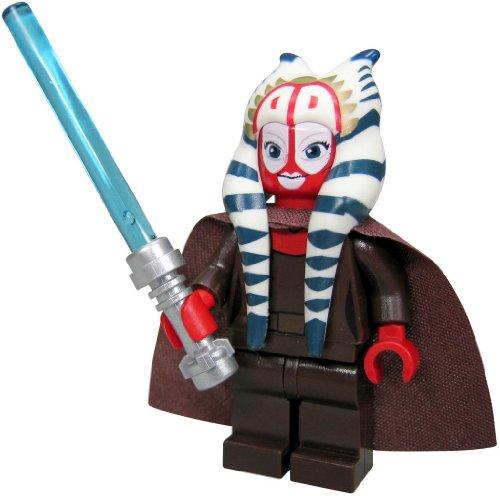 LEGO Star Wars Minifigur Shaak Ti (aus dem Bausatz 7931) mit Laserschwert, Jedi