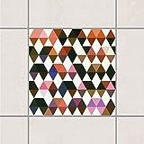 Pattern Design GmbH Fliesen Aufkleber–Skill Spiele der Karo Indianer 15cm x 15cm, Setgröße: 20teilig