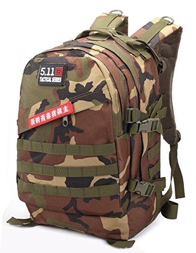40L taktischer Rucksack Wasserdichte Oxford Outdoor 3D Camouflage Outdoor Rucksack Klettern Wandern Camping jungle camouflage