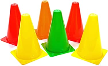 Roxan Pack of 12 Marker Cones (6 Inch) for Soccer Cricket Track and Field Sports