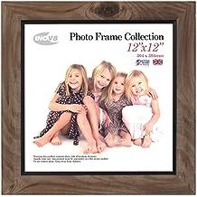 Inov8 12 x 30,48 cm marco de fotos, 4 unidades, madera de fresno con rústico