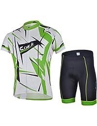 Free fisher Maillot de cyclisme vélo Homme Jersey Ensemble manches courtes + cuissard Combinaison
