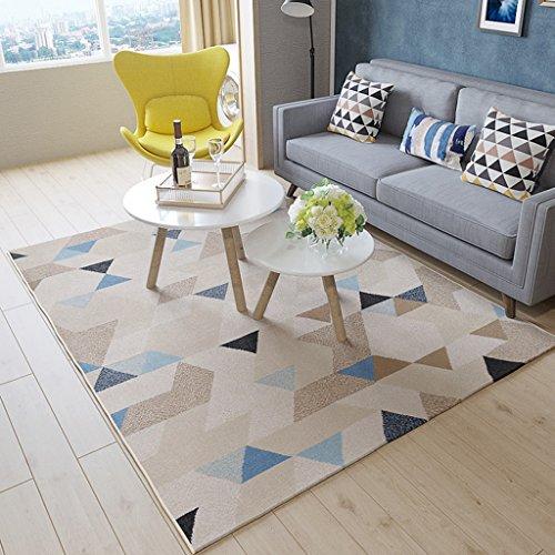 Ali Nórdico salón sofá mesa de café alfombra simple casa moderna dormitorio cama llena de alfombra rectangular ( Color : #1 , Tamaño : 0.8*1.2m )