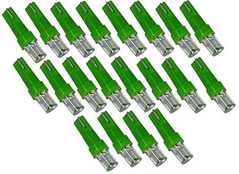 Aerzetix - Lot de 20 ampoules T5 à LED lumière verte