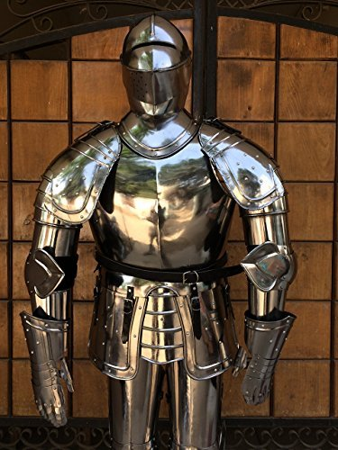 Preisvergleich Produktbild NAUTICALMART Full Suit of Armor with Breast Plate,  Back Plate Leg Guard and Shoulder Guard by