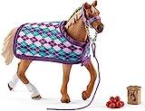 Schleich 42360 - Horse Club English Thoroughbred with blanket
