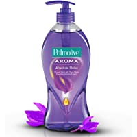 Palmolive Body Wash Aroma Absolute Relax, 750ml Pump, Shower Gel with 100% Natural Ylang Ylang Essential Oil & Iris Extracts