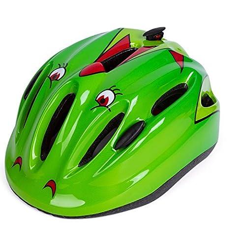 Babimax Children's Multi-Sport Safety Bike Helmets Cycling Skating Scooter for Girls / Boys (Green)