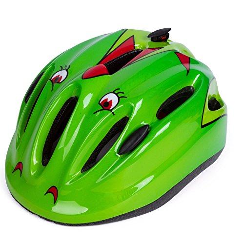 Babimax Fahrradhelm Kinder Radsport Rollschuhlaufen (Grün)