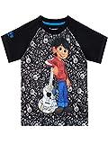 Disney Camiseta de Manga Corta para niños Coco Negro 5-6 Años