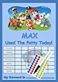 Ways2learn Paw Patrol Personalised POTTY TRAINING reward Chart with FREE stickers & Pen (Blue)